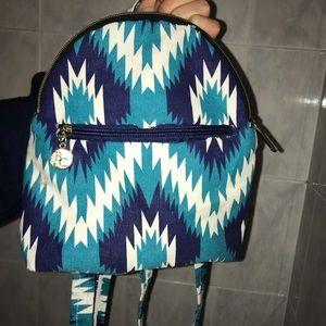 Handbags - Handmade blue white mini backpack! Durable trendy